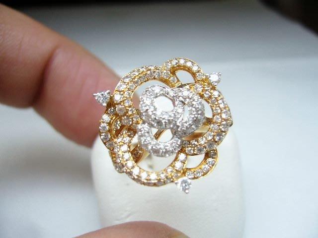 [吉宏精品交流中心]155P 天然鑽石 玫瑰金 造型 戒指