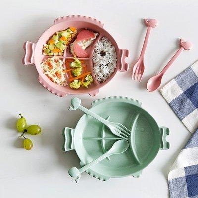 朵拉媽咪【全新現貨】小麥秸稈 環保餐盤 寶寶餐盤 兒童餐盤 早餐盤 水果盤 兒童盤 盤子 餐具組 兒童餐具 餐盤