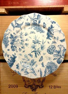 """英國Portmeirion瓷器-Botanic Blue植物藍系列10.75""""盤:英國 瓷器 餐具 餐盤 設計收藏 禮品"""