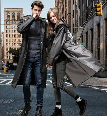 雨衣 黑色透明雨衣成人徒步男外套加厚加長款時尚單人潮牌防爆雨披女士   全館免運