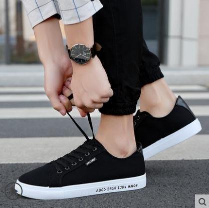 帆布鞋帆布鞋男韓版潮流男鞋小白鞋男士休閒鞋低幫布鞋潮板鞋男鞋子SGZL1550