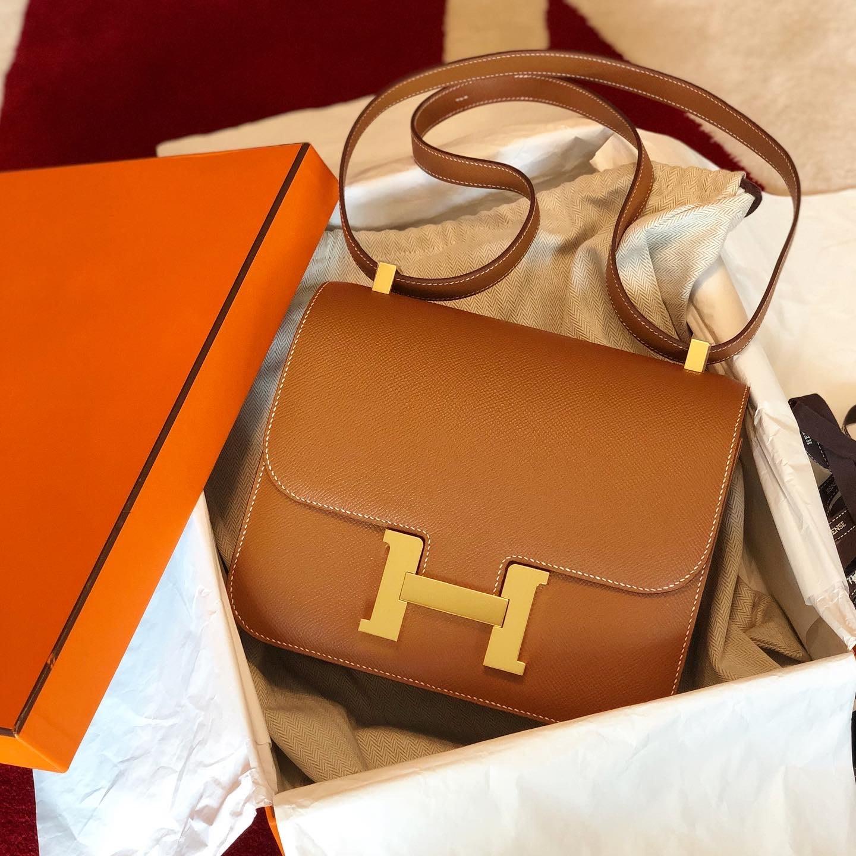 Hermes constance 24 MM 焦糖金 37gold 金釦 epsom皮 C刻