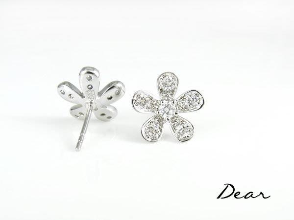 ◎【 Dear Jewelry 】◎ 925銀甜美大花朵耳環│生日禮物、送情人-----免運