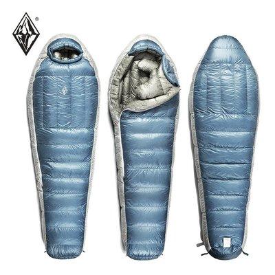 【戶外便利屋】BlackICE 黑冰 Z700頂級超輕800FP+抗水灰鵝絨睡袋 (-2~-14℃/940g)
