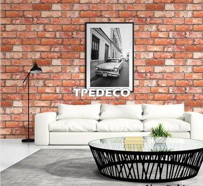 【大台北裝潢】AN韓國進口壁紙/壁布* 工業風 磚紋磚牆(3色) 施工實景 每坪750元