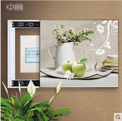 『格倫雅』電表箱裝飾畫配電箱可推拉遮擋壁畫客廳掛畫總開關弱電源箱電閘盒^25703