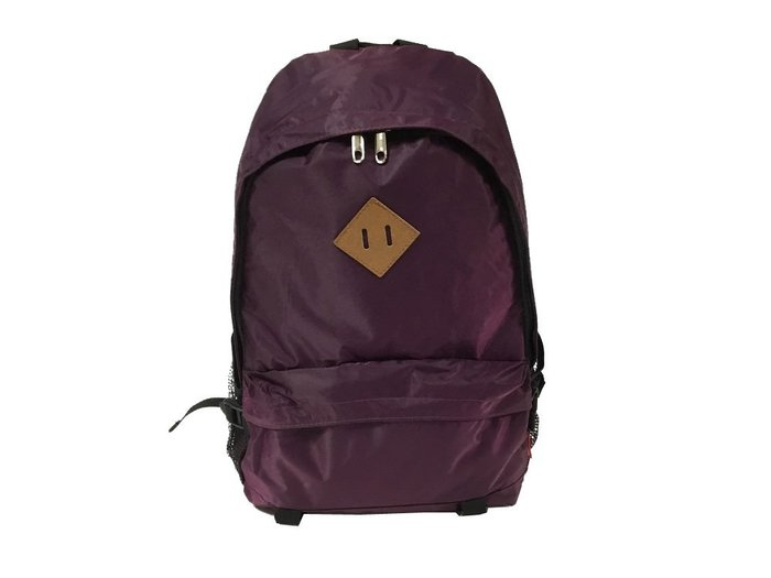 【菲歐娜】7558-(特價拍品)prague尼龍料後背包(LOGO咖)(紫) 台灣製造