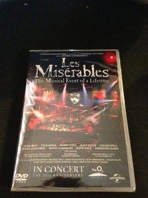 (全新品)悲慘世界25週年紀念演唱會 Les Miserable DVD(傳訊公司貨)