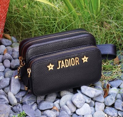 Dior JADIOR Pouch S7015 CVQR  小牛皮鍊帶雙層相機包 黑 現貨