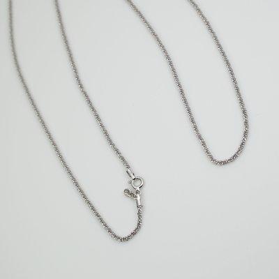 C012) 24吋扭麻花純銀項鍊 925 Sterling Silver Black Twist Italian Necklace (吊墜,聖誕,生日,禮物)