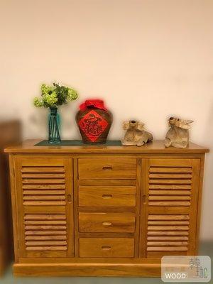 [韓珈柚木wood]柚木鞋櫃 柚木百葉鞋櫃 柚木餐櫃 柚木置物櫃 柚木餐櫃 北歐餐櫃萬用款 全實木百分百印尼柚木實木