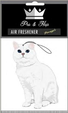 [Y A V] Pro N Hop 授權經銷 White Coffee Cat 白貓咪 動物香氛片 芳香吊卡吊飾 香片