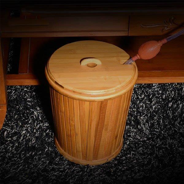 5Cgo【茗道】含稅會員有優惠 17268271906 竹制茶桶竹排水桶茶葉桶垃圾桶茶渣桶倒茶桶茶水桶茶道桶木桶 竹茶桶