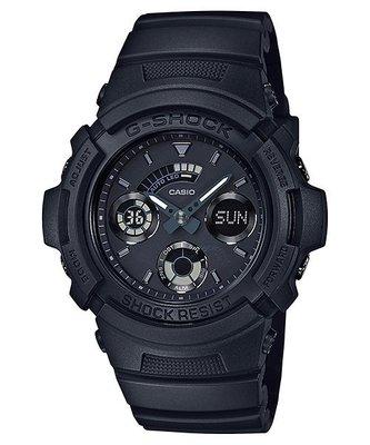 CASIO 卡西歐 G-SHOCK 自動LED照明、指針+數字雙顯功能AW-591BB-1A (AW-591-1A)