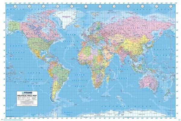 拼圖海報專賣店-世界地圖海報PP33039(World Map-世界地圖)