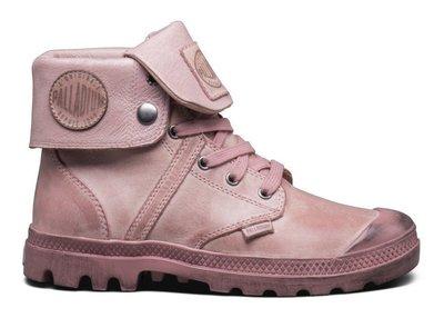=CodE= PALLADIUM PALLABROUSE BAGGY 水洗仿舊皮革反折軍靴(粉紅)93080-644 女