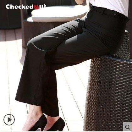 高腰西褲 修身女款工作褲 女服  奇異空間