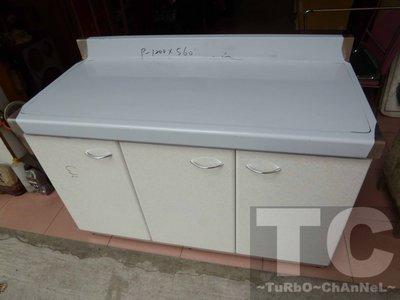 流理台【120公分工作平台-右對開】台面&櫃體不鏽鋼 白色淺大理石紋門板 最新款流理臺