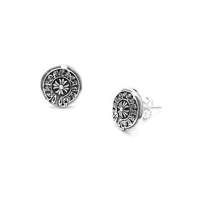 耳釘 S925純銀耳釘男耳環女氣質韓國個性創意單只街頭潮十字架復古耳飾