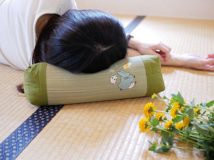 《FOS》日本 豆豆龍 涼爽 草蓆枕 藺草涼枕 龍貓 除濕 消臭 天然 健康 記憶枕 易眠 好眠 舒壓 夏天 送禮 新款