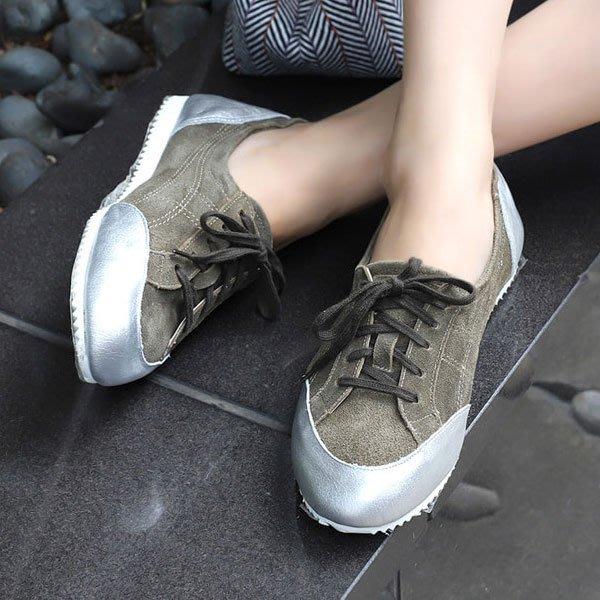 韓國連線 正韓超美的運動風真皮綁帶便鞋 小牛皮懶人鞋 【082_1220】♥tutti.moda♥