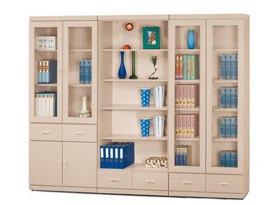 【南洋風休閒傢俱】書架 書櫃 書櫥 展示櫃 收納櫃 造形櫃 置物櫃系列-白橡2.7尺中抽書櫥CY411-76371