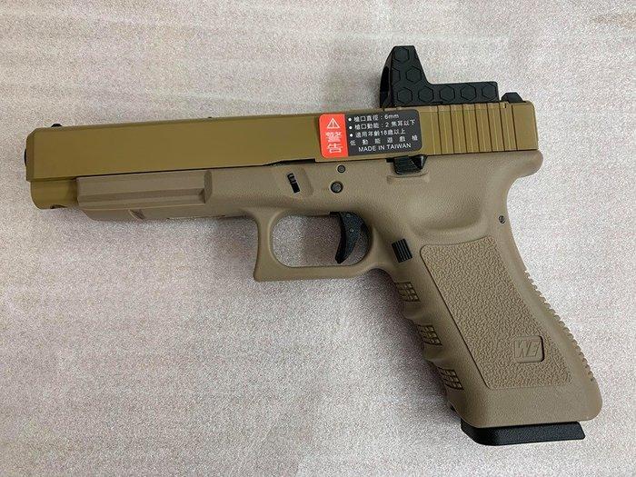 JHS((金和勝 槍店))免運費 WE 沙色 G34 Gen3 RMR版 瓦斯手槍 4826