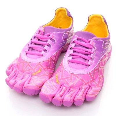 =CodE= VIBRAM FIVEFINGERS VYBRID 多功能五趾鞋(粉紅紫漸層) 赤足跑步 健身拳擊 粉 女
