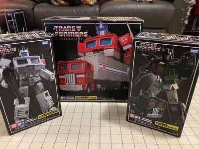 正版變形金剛 Transformers  MP Masterpiece 系列 Convoy 柯柏文 MP-4 完全版、MP-1B 暗黑柯柏文、MP-2 馬格斯