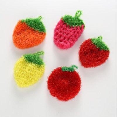 韓國熱銷創意手工加厚吸水抹布草莓洗碗巾清潔布廚房洗碗毛巾 擦桌布 擦碗布 洗碗布 可掛 廚房清潔 居家生活 遇見良品G862RG