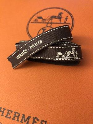 Hermes Paris Brown Gift Wrapping Ribbon