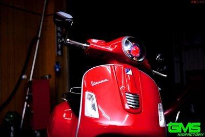 VESPA 偉士牌 GTS300 義大利 遠近魚眼HID大燈模組改裝 LED內外光圈 鋼鐵人 惡魔眼 燻黑飾圈 40瓦