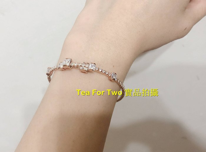 韓國正品(現貨)~超美鑲鑽玫瑰金閃亮亮單圈彈性手環