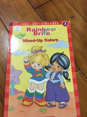 二手英文童書 scholastic reader rainbow brite mix-up colors E370