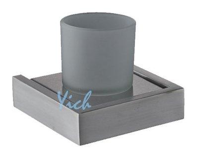 『MUFFEN沐雰衛浴』YR-505 簡約設計 毛絲髮絲霧面 304不鏽鋼 不銹鋼 漱口杯 單杯架 牙刷架 衛浴室配件