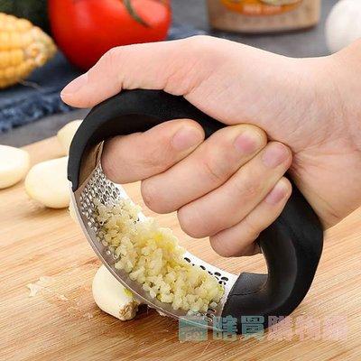 廚房304不鏽鋼手動壓蒜器 島蒜 切蒜 蒜泥器 方便清洗