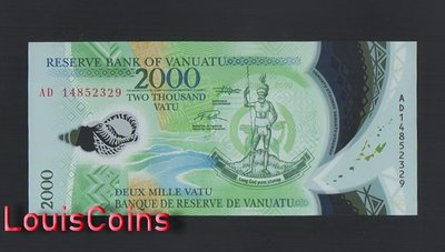 【Louis Coins】B1416-VANUATU-2014萬那杜(瓦努阿圖)塑膠紙幣,2000