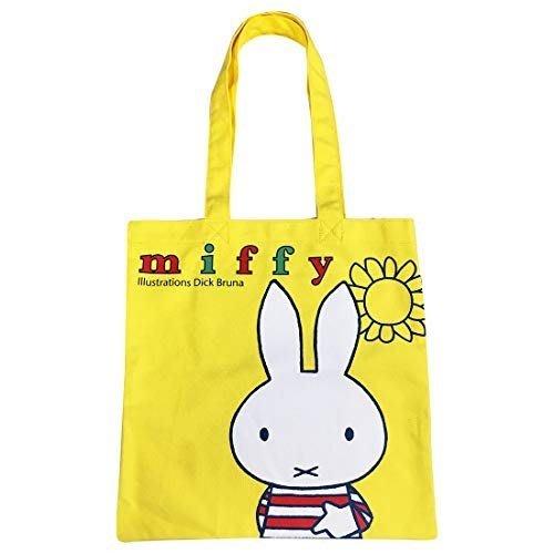 《散步生活雜貨》日本進口  MIFFY 米飛兔 北歐風 黃色 側背袋  MFAP397