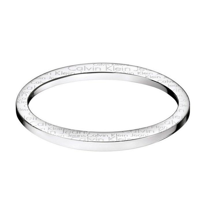 美國百分百【Calvin Klein】配件 CK 手環 金屬 不鏽鋼 閉合款 手鐲 女 腕飾 6.5吋 銀色 H383