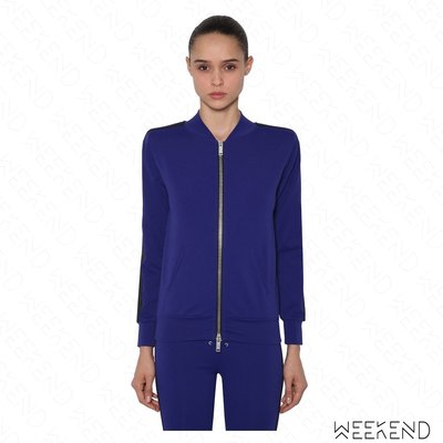 【WEEKEND】 UNRAVEL 合身 拉鍊 外套 夾克 藍+黑色 18秋冬