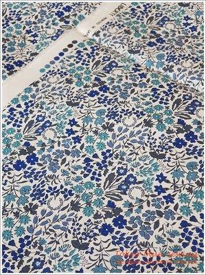 Tokyo-Blue sewing 日本染印liberty棉布 藍色花海