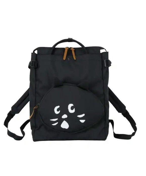 天使熊雜貨小鋪~日本帶回ne-net刺繡LOGO手提/後背兩用包  全新現貨