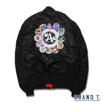 【Brand T】日版 ALPHA INDUSTRIES APOLLO MA-1 TIGHT*刺繡*貼布*窄版*飛行外套