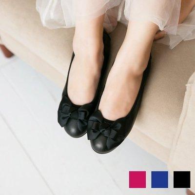 芭蕾舞鞋 織帶蝴蝶結真皮束帶娃娃鞋 台灣手工鞋 丹妮鞋屋