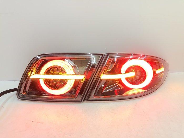 炬霸科技 車燈 MAZDA 6 馬自達 6 馬6 LED 尾燈 後燈 4圓 開機偵測 跑馬 流光 方向燈 02-08年