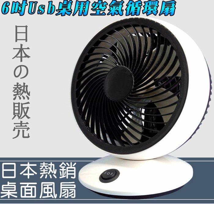 【野露家生活館】6吋Usb桌用迷你空氣循環扇