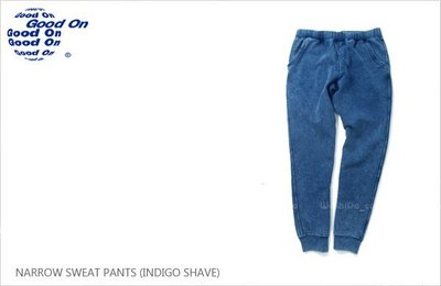WaShiDa【gobw1418is】Good On 日本品牌 NARROW INDIGO SHAVE 藍染 色落 棉褲