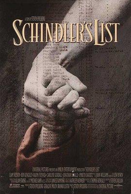 辛德勒的名單 (Schindlers List) ?史蒂芬史匹柏、連恩尼遜? 美國原版雙面電影海報 (1993年)
