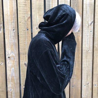 【inSAne】Korea Select / GD款 / 套裝 / 絨布帽TEE / 黑色