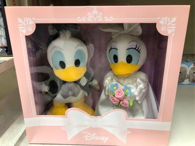 日本 Disney 唐老鴨 Donald Duck 公仔 Flower Set (可作結婚公仔用) (保證日版)